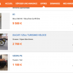 Acheter moto occasion particulier
