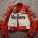 Blouson cuir moto racing