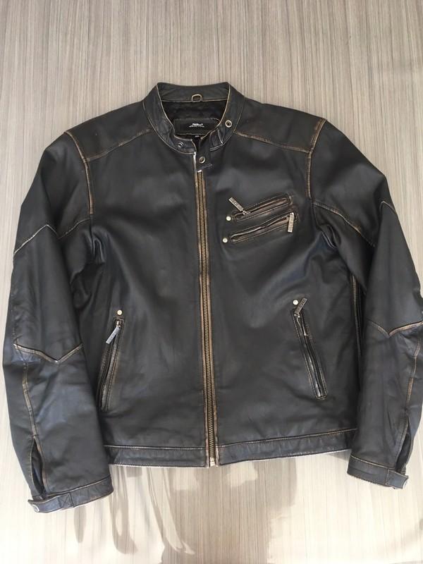 Blouson cuir vintage moto