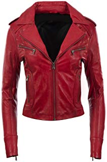 Blouson cuir femme style moto