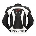 Blouson cuir moto avec dorsale
