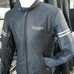 Blouson cuir moto femme triumph