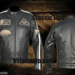 Blouson moto cuir real leather