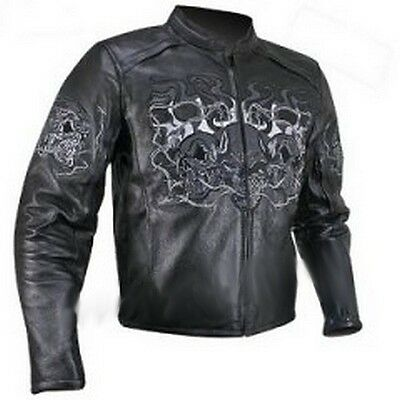 Blouson moto skull