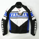 Blouson moto yamaha bleu