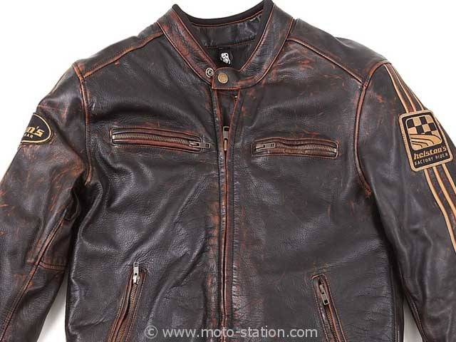 Blouson cuir moto difi