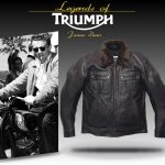 Blouson moto cuir vintage triumph