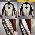 Blouson cuir moto entretien