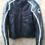 Blouson cuir vieilli moto