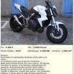 Annonce de vente de moto
