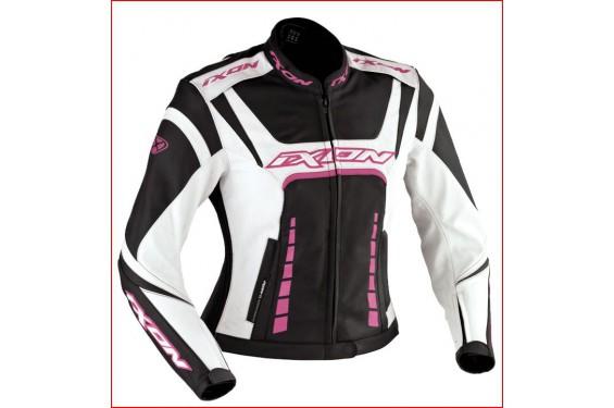 Blouson moto rose femme