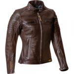 Blouson cuir marron homme moto