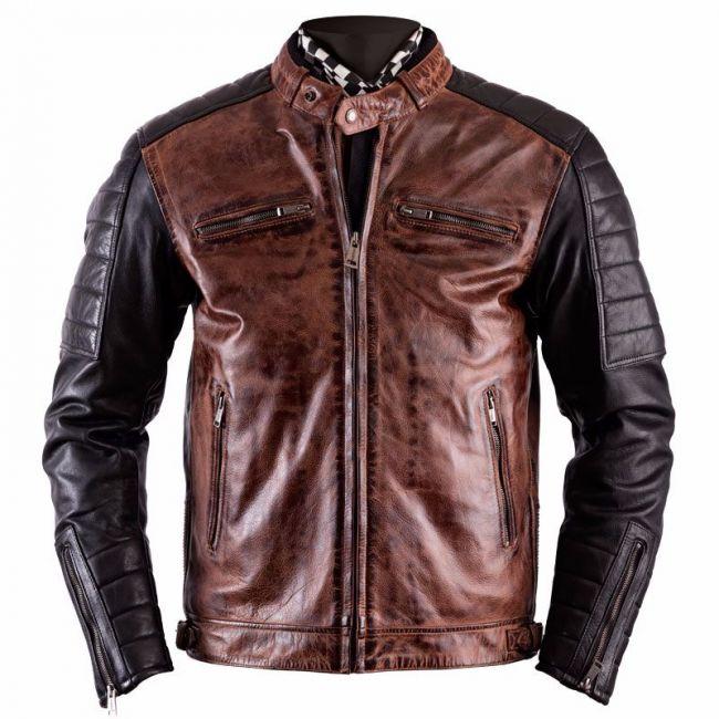 Blouson de moto homme en cuir