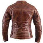 Blouson moto cuir femme marron