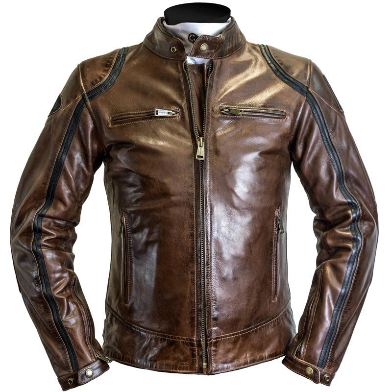 Blouson moto triumph cuir