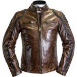 Blouson moto cuir vieilli noir