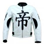 Duhan moto ce protections textile blouson femme/homme (noir blanc)