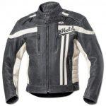 Blouson cuir homme moto noir