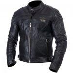 Blouson moto cuir noir homme