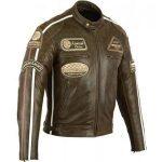 Blouson cuir moto vintage occasion