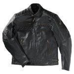 Blouson moto en cuir vintage
