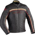 Blouson moto vintage textile