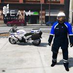 Blouson moto police nationale