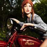 Blouson moto indian femme