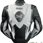 Blouson cuir moto bosse aerodynamique