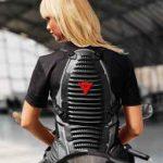 Blouson moto protection dorsale