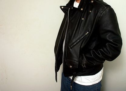 Blouson cuir moto king size