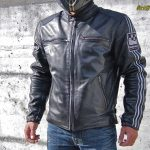 Blouson cuir moto vintage helston