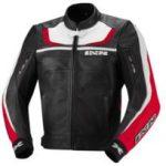 Blouson cuir moto avec protection dorsale