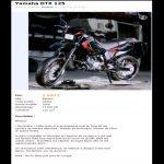 Annonce pour vendre une moto
