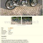 Annonce de moto