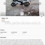 Moto a vendre le bon coin