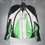 Blouson moto textile monster energy