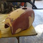 Reparation reservoir moto