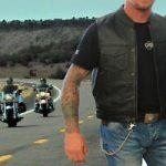 Blouson moto rocker