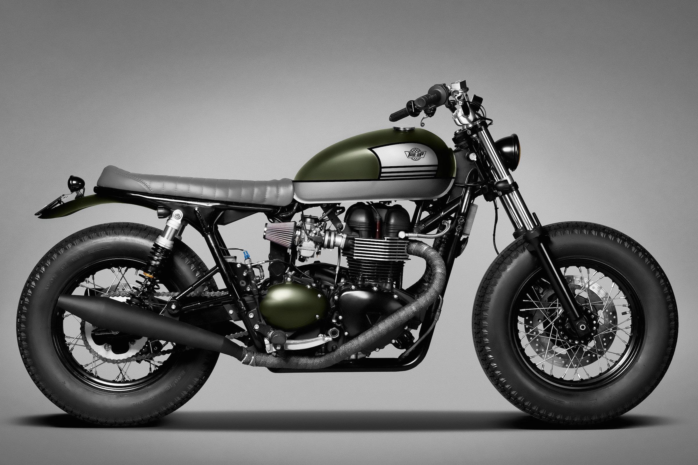 Garage moto triumph