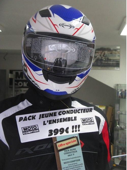 Equipement moto pack