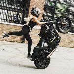 Blouson moto stunt