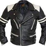 Blouson cuir moto vintage amazon