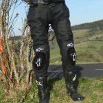 Pantalon moto cuir racing