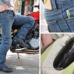 Pantalon moto jean renforcé