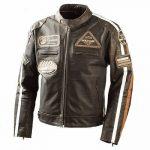 Blouson cuir moto taille 48