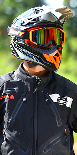Equipement moto cross kenny orange