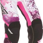 Pantalon femme moto cross rose
