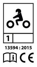 Signe homologation gant moto