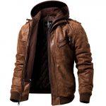 Blouson cuir hiver moto homme